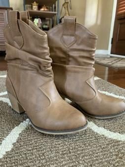 Women's Size 7 Charles Albert Western Cowboy Distressed Boot