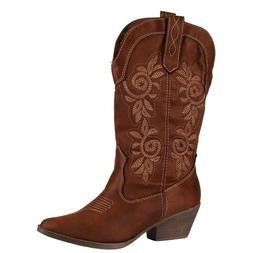 Women's Rampage Vinnmo Riding Cowboy Cowgirl Boots Shoes