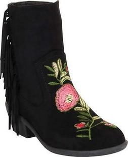 Cambridge Select Women's Western Floral Embroidered Fringe L