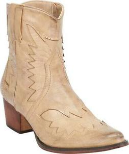 Cambridge Select Women's Western Pointed Toe Stacked Heel An