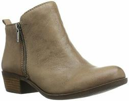 Lucky Brand Womens Basel Leather Almond Toe Ankle Cowboy, Br