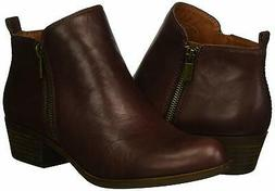 Lucky Brand Womens Basel Leather Almond Toe Ankle Cowboy Boo