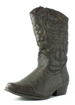 Charles Albert Womens Brown Cowboy, Western Boots Size 6.5