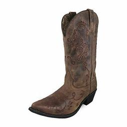 Smoky Mountain Boots Womens Jolene Mid-Calf Cowboy Boots, Br