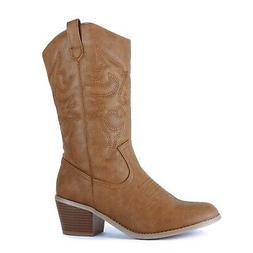 West Blvd - Womens Miami Cowboy Western Boots 9 Tan Pu
