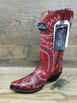 Womens Dan Post Sidewinder Snip Toe Cowboy Boots Red