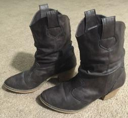 Womens Charles Albert Slouch Western Cowboy Boots SP-08017 -