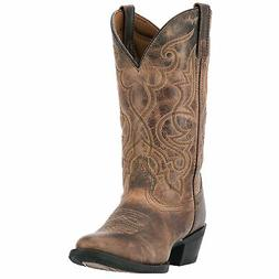 Laredo Womens Tan Maddie Leather Cowboy Boots 11in Embroider