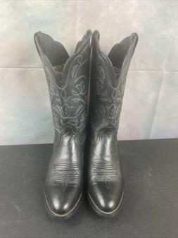 Ariat Womens Western Cowboy Boots Black Leather Slip On Wome