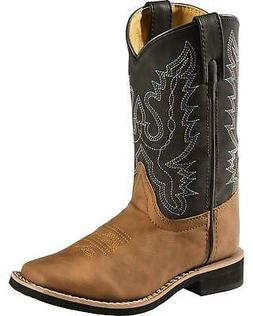 12-6 Wonder Nation Youth Girl/'s Pull-on Brown Western Cowboy Boots Shoes