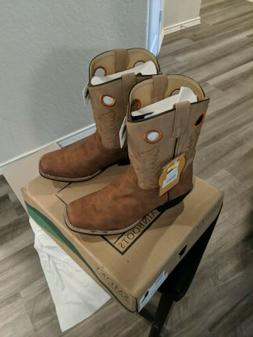 Smoky Mountain Boots Youth Boys Memphis Tan Faux Leather Cow